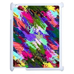 Tropical Jungle Print And Color Trends Apple Ipad 2 Case (white) by Nexatart