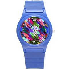 Tropical Jungle Print And Color Trends Round Plastic Sport Watch (s) by Nexatart