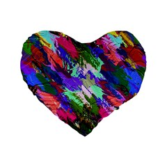 Tropical Jungle Print And Color Trends Standard 16  Premium Heart Shape Cushions