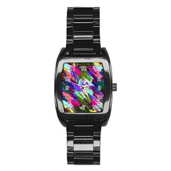 Tropical Jungle Print And Color Trends Stainless Steel Barrel Watch by Nexatart