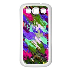 Tropical Jungle Print And Color Trends Samsung Galaxy S3 Back Case (white) by Nexatart
