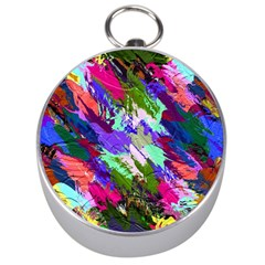 Tropical Jungle Print And Color Trends Silver Compasses by Nexatart