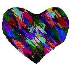 Tropical Jungle Print And Color Trends Large 19  Premium Flano Heart Shape Cushions by Nexatart