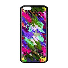 Tropical Jungle Print And Color Trends Apple Iphone 6/6s Black Enamel Case by Nexatart