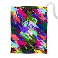 Tropical Jungle Print And Color Trends Drawstring Pouches (xxl) by Nexatart