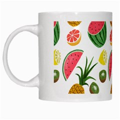 Fruits Pattern White Mugs by Nexatart