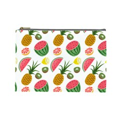 Fruits Pattern Cosmetic Bag (large)  by Nexatart