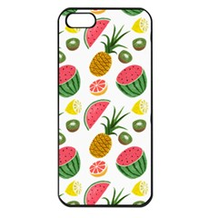 Fruits Pattern Apple Iphone 5 Seamless Case (black) by Nexatart