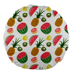 Fruits Pattern Large 18  Premium Round Cushions by Nexatart