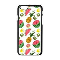 Fruits Pattern Apple Iphone 6/6s Black Enamel Case