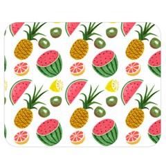 Fruits Pattern Double Sided Flano Blanket (medium)
