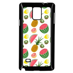Fruits Pattern Samsung Galaxy Note 4 Case (Black) by Nexatart