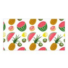 Fruits Pattern Satin Shawl by Nexatart