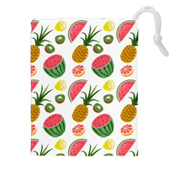 Fruits Pattern Drawstring Pouches (xxl) by Nexatart
