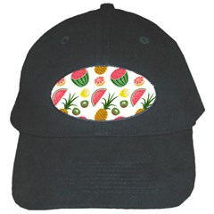 Fruits Pattern Black Cap by Nexatart