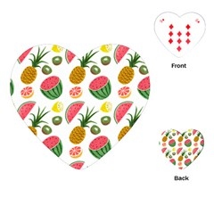 Fruits Pattern Playing Cards (heart)