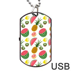 Fruits Pattern Dog Tag Usb Flash (one Side)