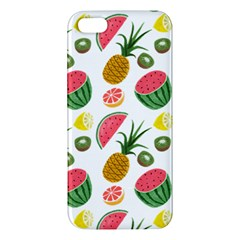 Fruits Pattern Apple Iphone 5 Premium Hardshell Case by Nexatart