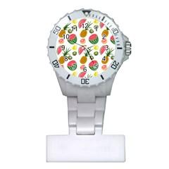 Fruits Pattern Plastic Nurses Watch