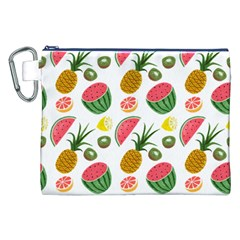 Fruits Pattern Canvas Cosmetic Bag (xxl) by Nexatart