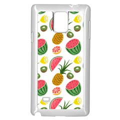 Fruits Pattern Samsung Galaxy Note 4 Case (white)