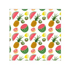 Fruits Pattern Small Satin Scarf (square)