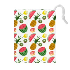 Fruits Pattern Drawstring Pouches (extra Large)