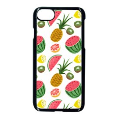 Fruits Pattern Apple Iphone 7 Seamless Case (black) by Nexatart
