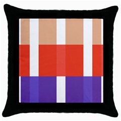 Compound Grid Throw Pillow Case (black) by Nexatart