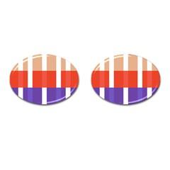 Compound Grid Cufflinks (oval) by Nexatart