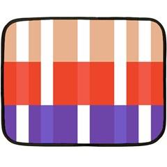 Compound Grid Double Sided Fleece Blanket (mini)  by Nexatart