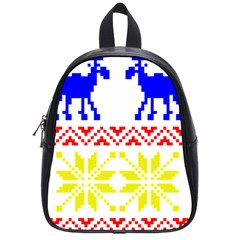 Jacquard With Elks School Bags (small)  by Nexatart