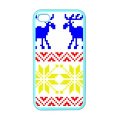 Jacquard With Elks Apple Iphone 4 Case (color)