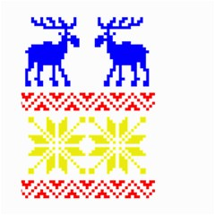 Jacquard With Elks Small Garden Flag (two Sides) by Nexatart
