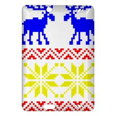 Jacquard With Elks Amazon Kindle Fire Hd (2013) Hardshell Case by Nexatart