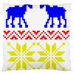 Jacquard With Elks Standard Flano Cushion Case (two Sides) by Nexatart