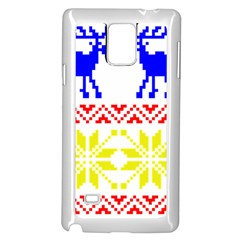 Jacquard With Elks Samsung Galaxy Note 4 Case (white) by Nexatart