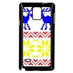 Jacquard With Elks Samsung Galaxy Note 4 Case (black)