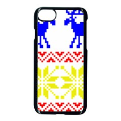Jacquard With Elks Apple Iphone 7 Seamless Case (black) by Nexatart