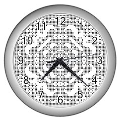 Mosaic Pattern Cyberscooty Museum Pattern Wall Clocks (silver)