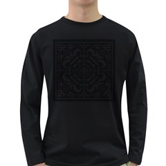 Mosaic Pattern Cyberscooty Museum Pattern Long Sleeve Dark T Shirts