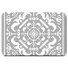 Mosaic Pattern Cyberscooty Museum Pattern Large Doormat