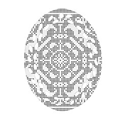 Mosaic Pattern Cyberscooty Museum Pattern Ornament (oval Filigree) by Nexatart
