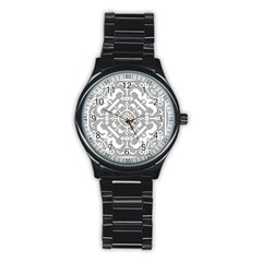 Mosaic Pattern Cyberscooty Museum Pattern Stainless Steel Round Watch