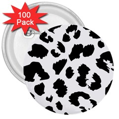 Leopard Skin 3  Buttons (100 Pack)  by Nexatart