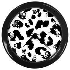 Leopard Skin Wall Clocks (black)