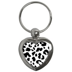 Leopard Skin Key Chains (heart)