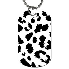 Leopard Skin Dog Tag (two Sides) by Nexatart