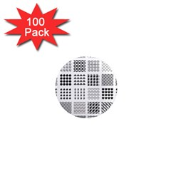 Retro Patterns 1  Mini Magnets (100 Pack)  by Nexatart