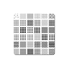 Retro Patterns Square Magnet by Nexatart